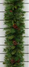 6ft Christmas Berry & Cone Green Pine Garland 190 Tips 250057GL