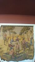 """Vintage Market Scene Tapestry Wall Hanging. Measures 37"""" X 38""""...artist unknown"""