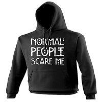 NORMAL PEOPLE SCARE ME HOODIE hoody emo rude punk rock funny birthday gift 123t