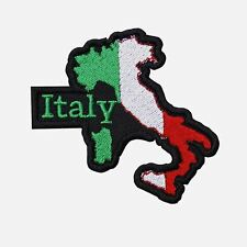 ITALY MAP FLAG Bikers embroidered Patch-0646