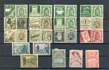 BELGIUM 18 x - WITH ADVERTISING PART = BACK OF BOOK = F/VF