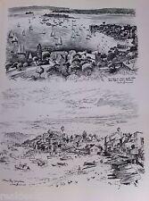 Vintage Original Cedric Emanuel Print 1970- Point Piper & Watson's Bay