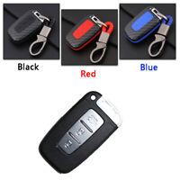 Carbon Fiber Design Shell+Silicone Case Cover For 3 Buttons Hyundai Remote Key A