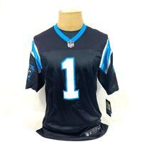 Carolina Panthers Cam Newton 1 Nike Mens Jersey Black 915867-012 S New