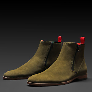 TAYNO Chelsea Boots The Coupe Olive
