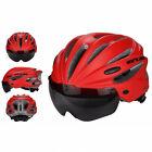 Cycling Bicycle Helmet Road Bike Adult Adjustable Safety Helmet w/ Visor Lens R1