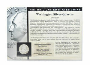 The Morgan Mint Historical United States Coins Silver Dime & Silver Quarter Set