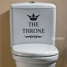 THE THRONE Funny Interesting Toilet Wall Stickers Bathroom Decoration Accessorie