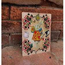 purchase cheap 297b4 5e6d1 Alice In Wonderland White Rabbit - VINTAGE ENAMEL METAL TIN SIGN WALL PLAQUE