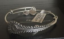 Alex and Ani NWT Peacock Feather Wrap in Russian Silver w/card