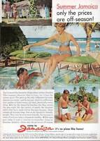 1963 Jamaica Tourist Board Couple at the Pool and Beach PRINT AD