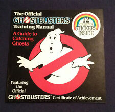 VINTAGE Official Ghostbusters Training Manual Book w/Original Stickers 1984 NOS