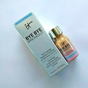 IT Cosmetics Bye Bye Breakout Full-Coverage Acne Treatment Concealer MED Tan NIB
