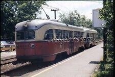 MBTA Boston Trolley #3226 #3004 Elliot Station Jun 69 VINTAGE EKTACHROME SLIDE