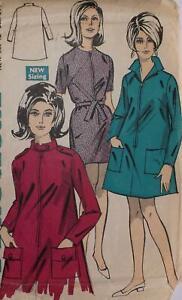 "Vintage Practical Pattern 5998 1960s Ladies Mini Dress 2 Styles Size Bust 34ins"""