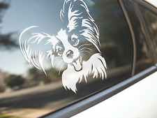 Papillon Sticker Dog Car Decal Papillons Butterfly Dogs Puppy Silhouette