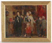 "Vasili Ivanov (b.1928), ""Scene in a Store"", Oil Painting, ca.1950"