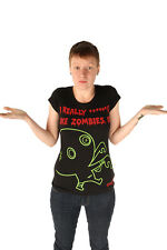 NewBreed Girl Small $29 Zombie Love Black T-Shirt Tee Top New Breed Punk NWT SM