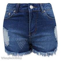Denim High Retro Shorts for Women