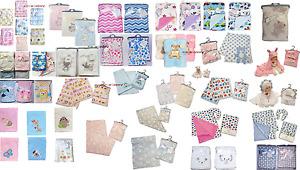 Newborn Baby Soft Fleece Blanket Pram Crib Moses Basket Boy Girl Unisex 0+ Month