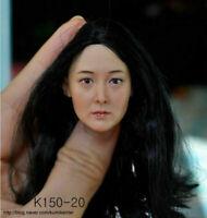 "1/6 Scale Asia Female Head Carving Sculpt KUMIK Model K150-20 F 12"" Figure Body"
