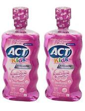 ACT Kids Mouthwash Fluoride Rinse Bubble Gum Blowout 16.9oz  (2 Pack)