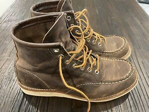 Red Wing Heritage Grey Concrete Rough Tough Leather Moc Toe Boot 4548 Size 9 D