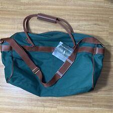 Vtg Ralph Lauren Polo Bag Signature Traveler Canvas Green