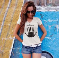 ALICE IN CHAINS STONE Women White V-Neck T-shirt Grunge Band Tee Shirt