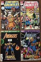 Infinity Gauntlet 1 2 4 & 6 (Marvel, 1991)-Captain America, Avengers, Thanos NM