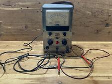 Vintage Eico 221 Vtvm Vacuum Tube Voltmeter One Probe Power Test Only Powers On