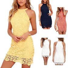 Vestito Donna Woman Dress - Mini dress Vestitino Pizzo Vari Colori 110013B P