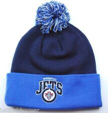 WINNIPEG JETS MITCHELL & NESS  KH42Z NHL TEAM POM KNIT HOCKEY HAT/BEANIE