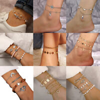 Summer Boho Ankle Bracelet Anklet Chain Foot Beach Sandal Jewelry Gift For Women