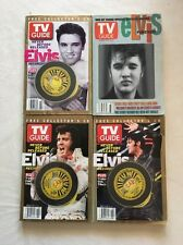LOT OF 4 Rare Elvis Presley TV Guide Edition With Collector's CD
