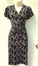 LEONA EDMISTON Black & Pink Cross Bodice & Waist Detail Dress sz 12 NWT
