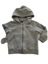 NIKE Boys Grey Hooded Zip Up Top Hoody Age 4-5 Years
