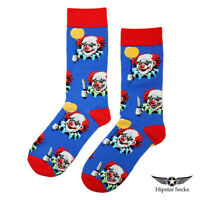 Hipstar Clown Crew Socks Mens Womens Happy Novelty Funky Fun Circus