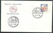 1983 ITALIA FDC CAVALLINO CASTELLO CALDORESCO 1400 LIRE NO TIMBRO ARRIVO CV19832