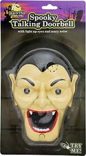 Spooky Talking Halloween Doorbell / Lights Sounds & Surprise ~ Dracula Vampire