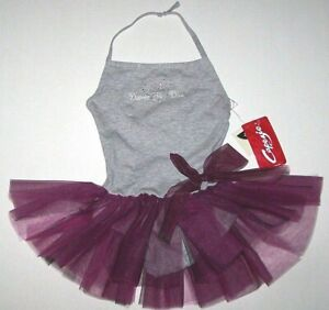 Nwt New Capezio Dance Diva Halter Leotard Dress Tutu Skirt Butterfly Rstone Girl