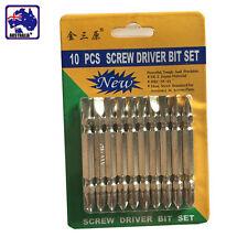 10pcs Set PH2 65mm Drill Bits Power Driver Bit Security ScrewDriver TSKSR1034