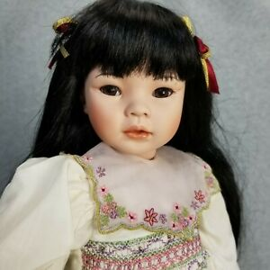 """21"""" Hand Signed Limited Edition porcelain Asian Doll By Pauline """"Jennilee"""""""