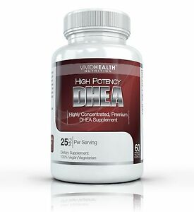 High Potency DHEA Supplement  25mg - 60 Caps /Anti-Aging Energy Muscle Enhancer