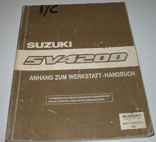 Werkstatthandbuch Anhang Suzuki Vitara SV 420 D Anhang Bremsen Motor Getriebe!