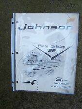 1959 Original Johnson Outboard Motor Parts Catalog 3 HP Model JW JWL-15  Boat  L
