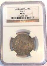Austria 1628 Silver Thaler 10 Kreuzer Archduke Leopold V Hall Tyrol NGC AU53