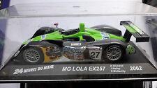 VOITURE  MINIATURE  1/43è  MG LOLA  EX  257  N° 27      24 heures du Mans 2002