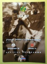 2000 UEFA Cup Final Arsenal Galatasaray Programme (Mint Condition)