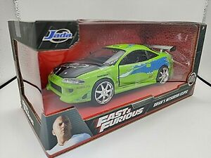 VOITURE JADA TOYS FAST AND FURIOUS BRIAN'S MITSUBISHI ECLIPSE  1:24 NEUF BOITE